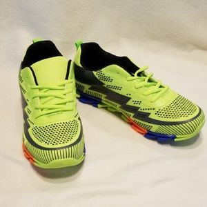 Men's Brightly colored athletic shoes!